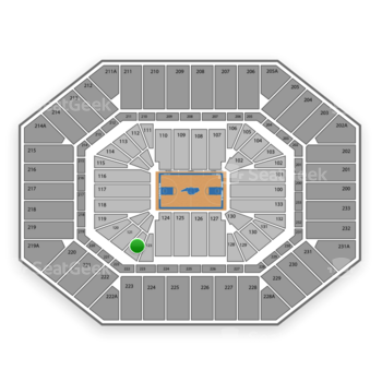 North Carolina Tar Heels Basketball at Dean E. Smith Center Section 122 View