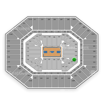 North Carolina Tar Heels Basketball at Dean E. Smith Center Section 132 View
