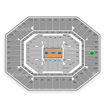 North Carolina Tar Heels Basketball at Dean E. Smith Center Section 200 View