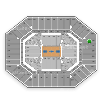North Carolina Tar Heels Basketball at Dean E. Smith Center Section 202 View