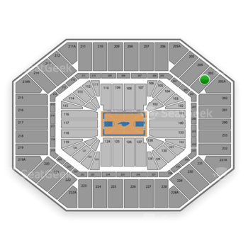 North Carolina Tar Heels Basketball at Dean E. Smith Center Section 203 View