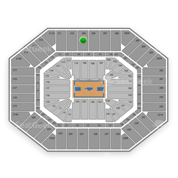 North Carolina Tar Heels Basketball at Dean E. Smith Center Section 209 View