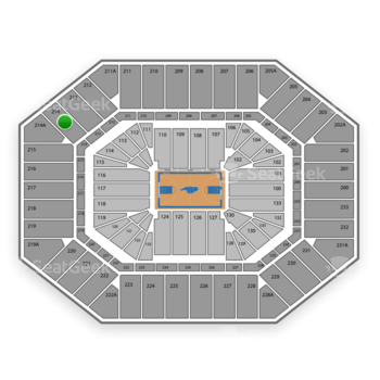 North Carolina Tar Heels Basketball at Dean E. Smith Center Section 214 View