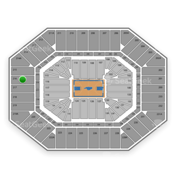 North Carolina Tar Heels Basketball at Dean E. Smith Center Section 216 View