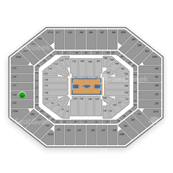 North Carolina Tar Heels Basketball at Dean E. Smith Center Section 218 View