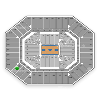North Carolina Tar Heels Basketball at Dean E. Smith Center Section 220 View