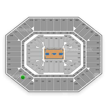 North Carolina Tar Heels Basketball at Dean E. Smith Center Section 221 View