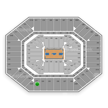 North Carolina Tar Heels Basketball at Dean E. Smith Center Section 223 View