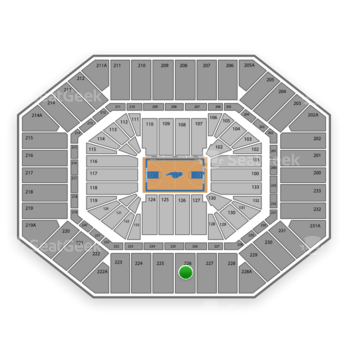 North Carolina Tar Heels Basketball at Dean E. Smith Center Section 226 View