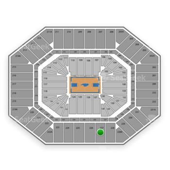 North Carolina Tar Heels Basketball at Dean E. Smith Center Section 227 View