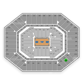North Carolina Tar Heels Basketball at Dean E. Smith Center Section 230 View