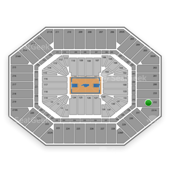 North Carolina Tar Heels Basketball at Dean E. Smith Center Section 232 View
