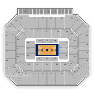 Oklahoma State Cowboys Basketball Seating Chart