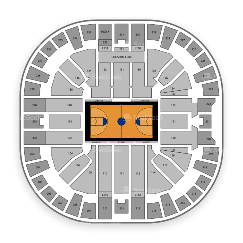 Clemson Tigers Basketball Seating Chart