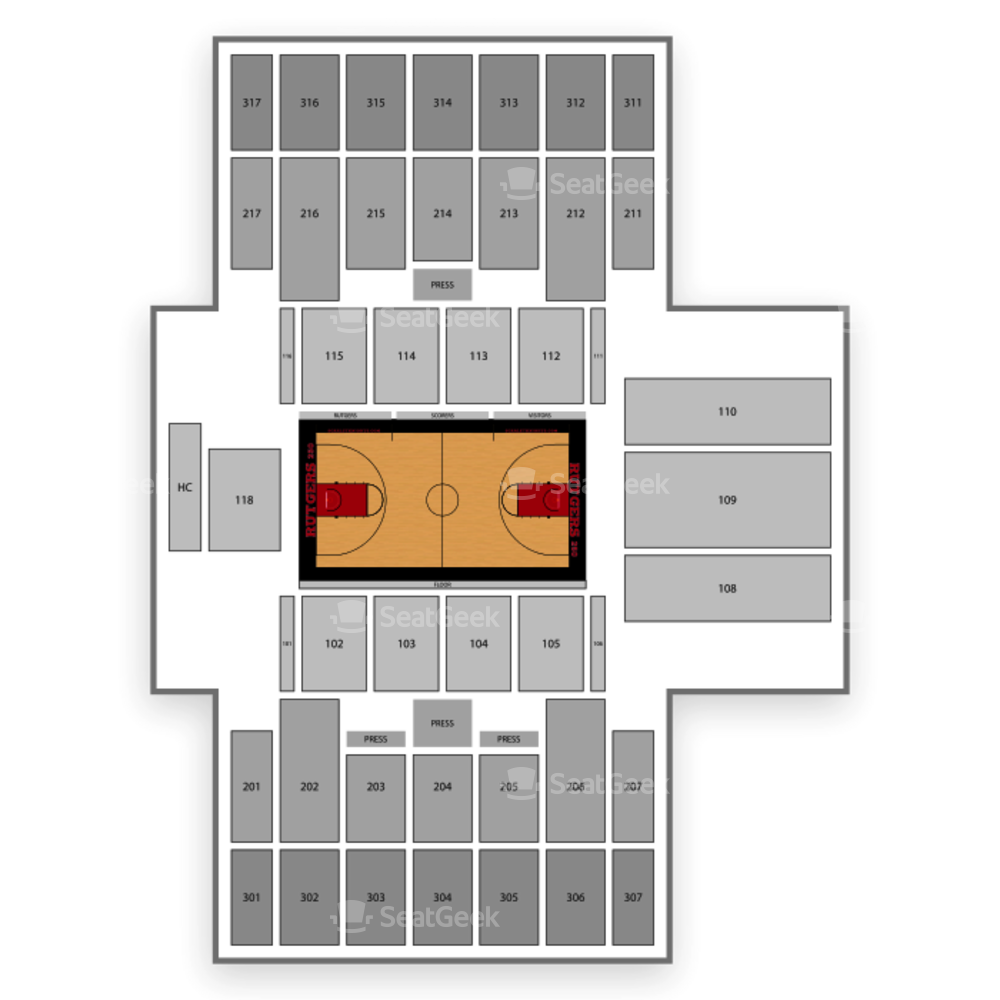 Rutgers Scarlet Knights Basketball Seating Chart