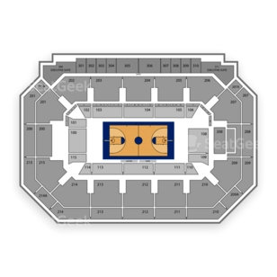 SMU Mustangs Basketball Seating Chart
