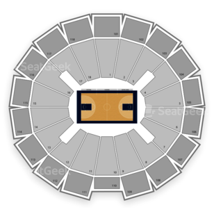 Purcell Pavilion at the Joyce Center Seating Chart NCAA Football