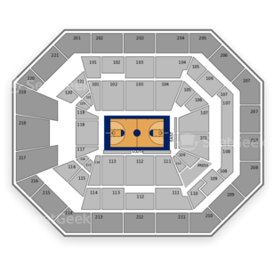 Oregon Ducks Basketball Seating Chart