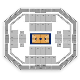 Stephen C. O'Connell Center Seating Chart Family