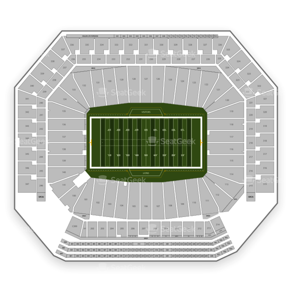 Supercross Ford Field: Detroit Lions Seating Chart & Map
