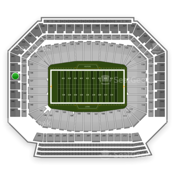Ford Field Section 343 Seat Views Seatgeek
