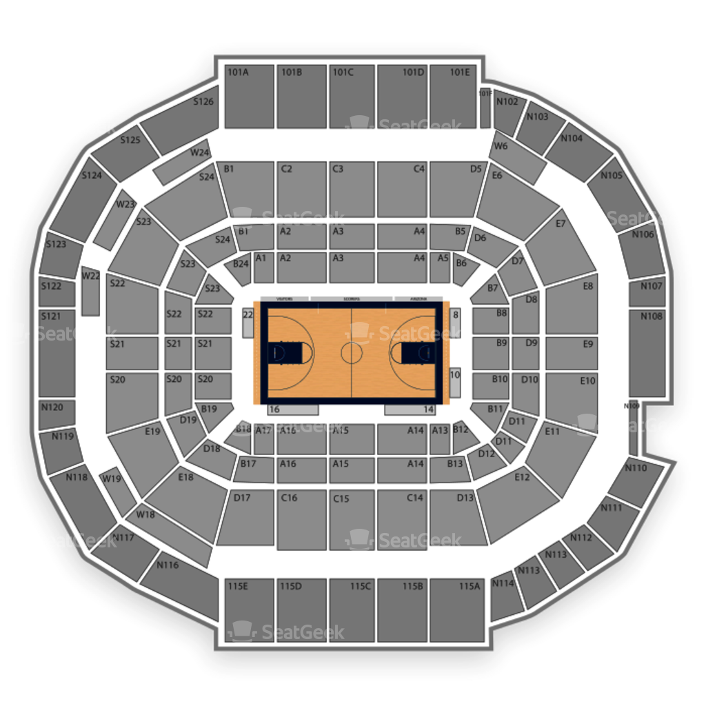 Mckale Center Seating Chart Map