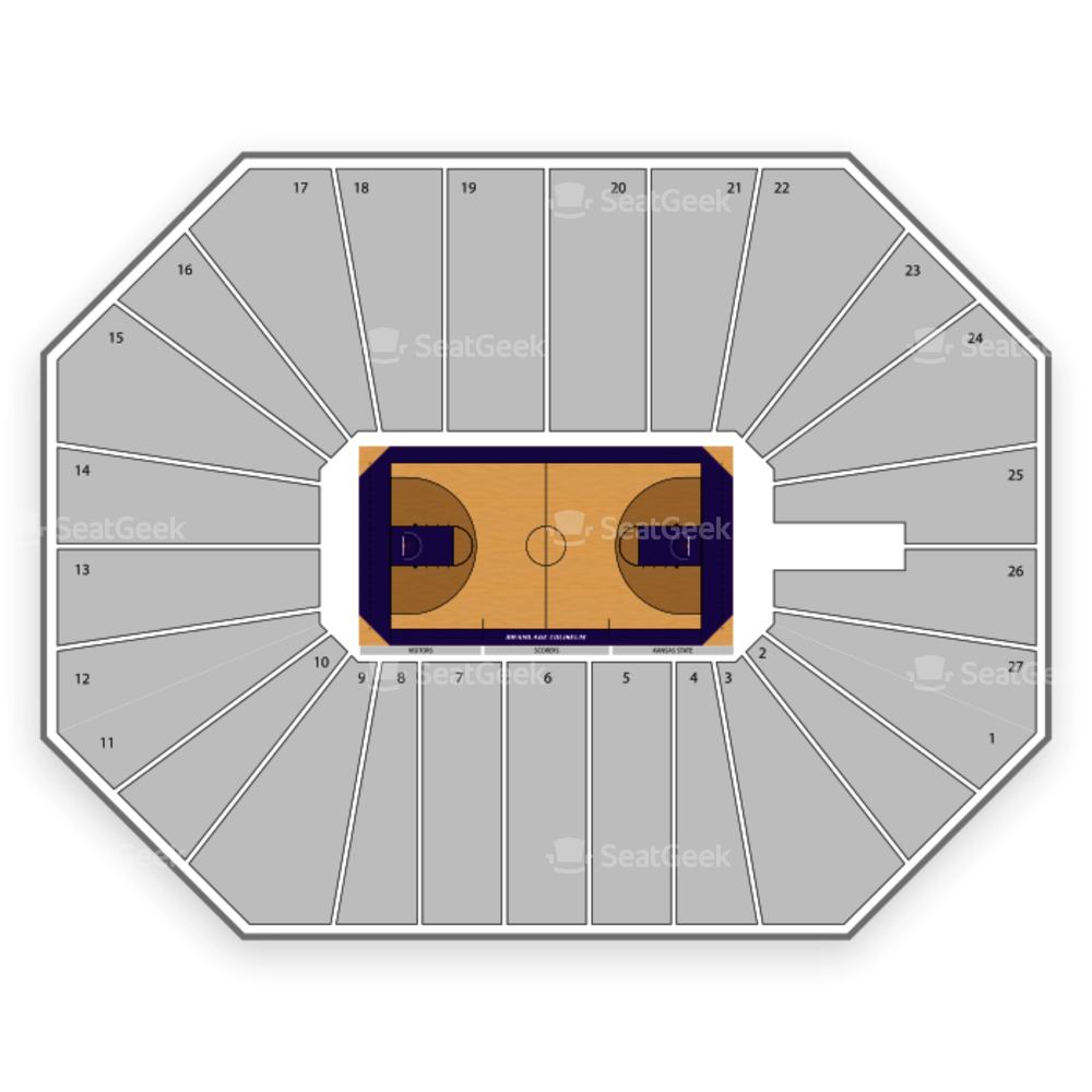 Kansas State Wildcats Womens Basketball Seating Chart