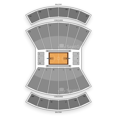 Assembly Hall seating chart Indiana Hoosiers Basketball