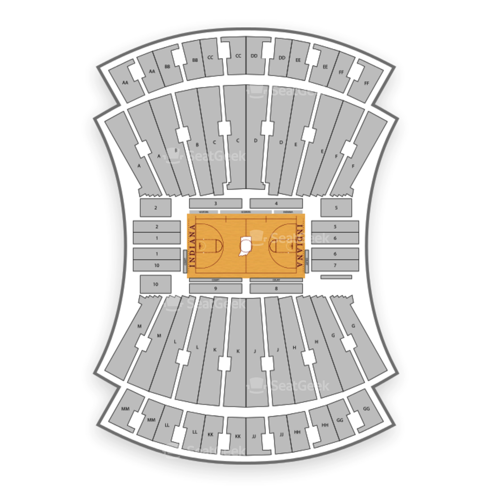 Simon Skjodt Assembly Hall Seating Chart NCAA Football