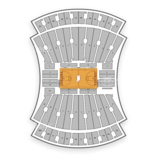 Indiana University Assembly Hall Seating Chart NCAA Football