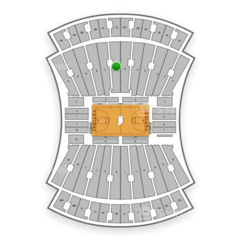 Indiana Hoosiers Basketball at Indiana University Assembly Hall C View