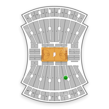 Indiana Hoosiers Basketball at Indiana University Assembly Hall H View