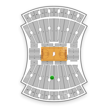 Indiana Hoosiers Basketball at Indiana University Assembly Hall K View