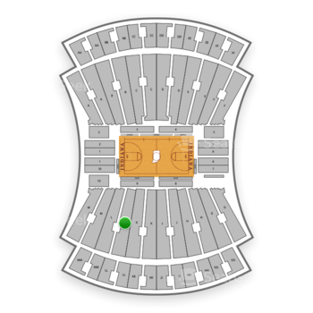 Indiana Hoosiers Basketball at Indiana University Assembly Hall L View