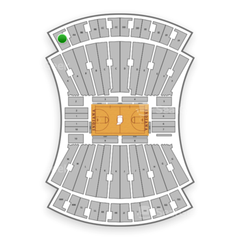 Indiana Hoosiers Basketball at Simon Skjodt Assembly Hall Aa View