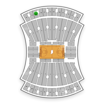 Indiana Hoosiers Basketball at Simon Skjodt Assembly Hall Bb View