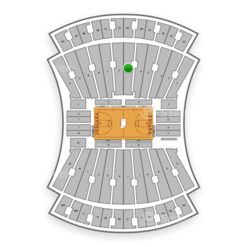 Indiana Hoosiers Basketball at Simon Skjodt Assembly Hall D View