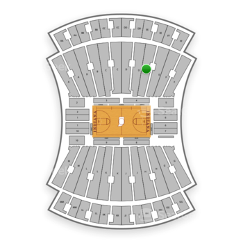 Indiana Hoosiers Basketball at Simon Skjodt Assembly Hall E View