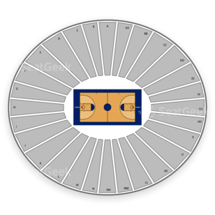 Iowa Hawkeyes Basketball Seating Chart