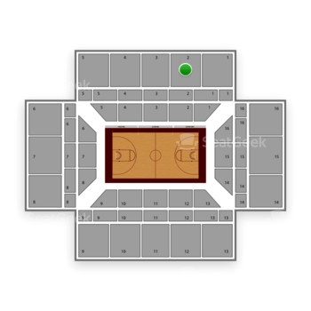Stanford Cardinal Basketball at Maples Pavilion Section 2 View