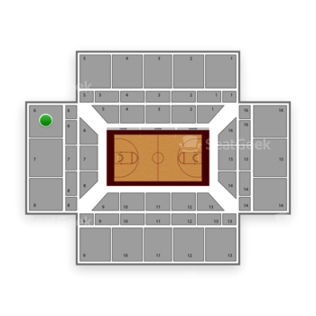 Stanford Cardinal Basketball at Maples Pavilion Section 6 View