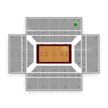 Stanford Cardinal Basketball at Maples Pavilion Section 1 View