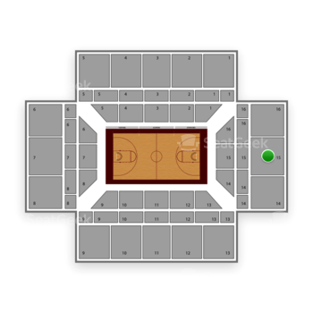 Stanford Cardinal Basketball at Maples Pavilion Section 15 View