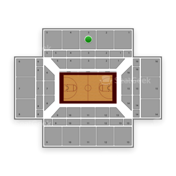 Stanford Cardinal Basketball at Maples Pavilion Section 3 View