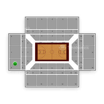 Stanford Cardinal Basketball at Maples Pavilion Section 8 View