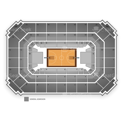 Allen Fieldhouse seating chart Kansas Jayhawks Basketball