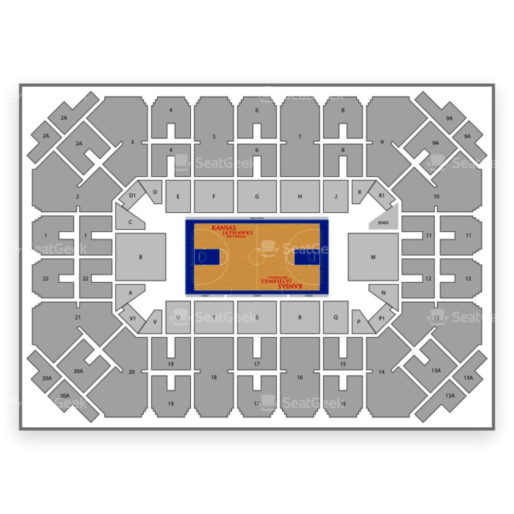 Kansas Jayhawks Basketball Seating Chart