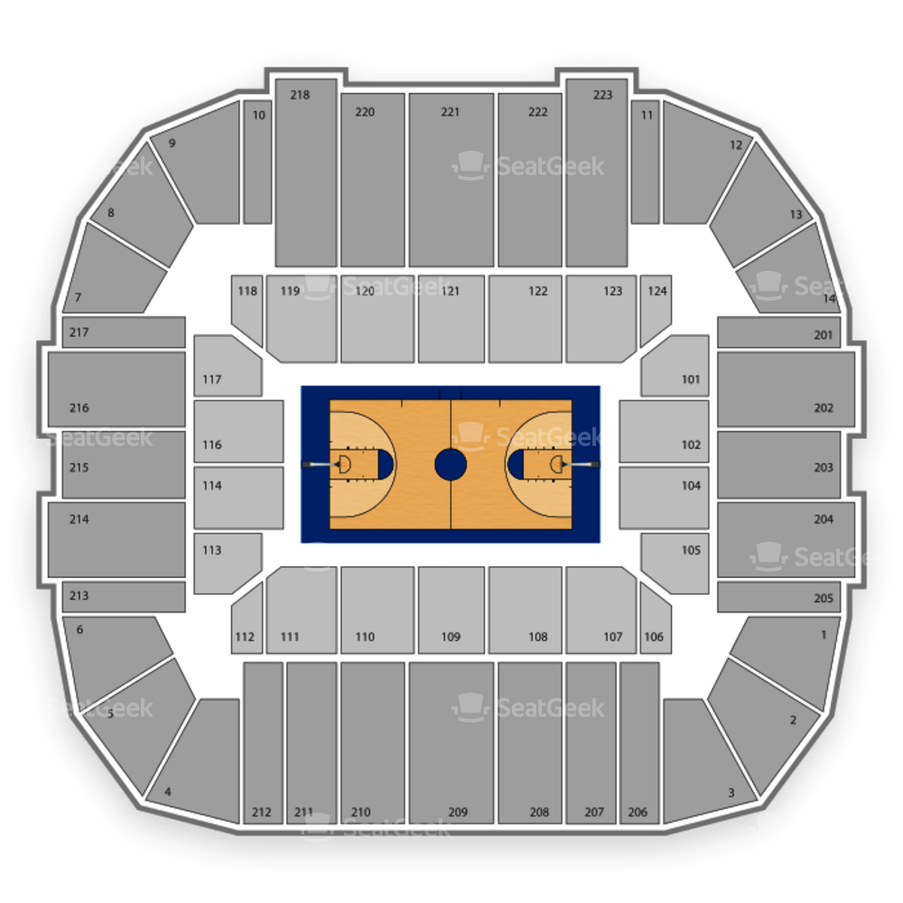 UConn Huskies Basketball Seating Chart