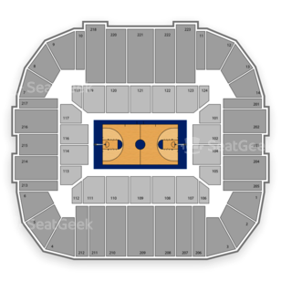 Gampel Pavilion Seating Chart NCAA Football
