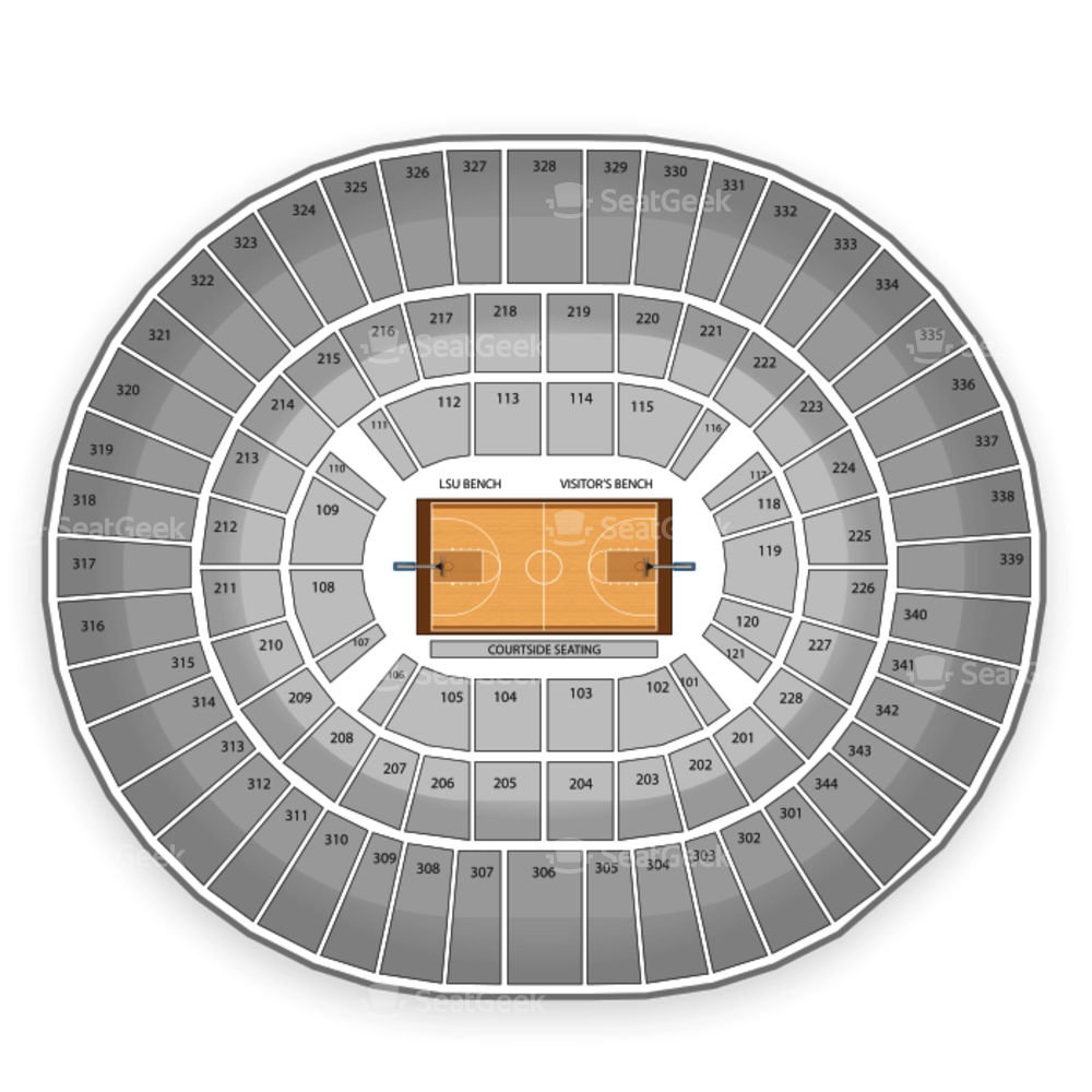 LSU Tigers Womens Basketball Seating Chart